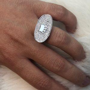 Swarovski Crystal Crown Ring Size 6